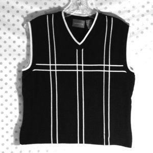 Liz Claiborne LizGolf Black Sweater Vest
